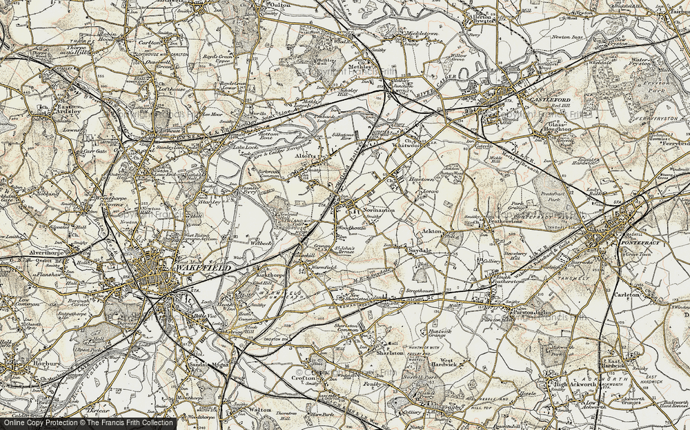 Old Map of Woodhouse, 1903 in 1903