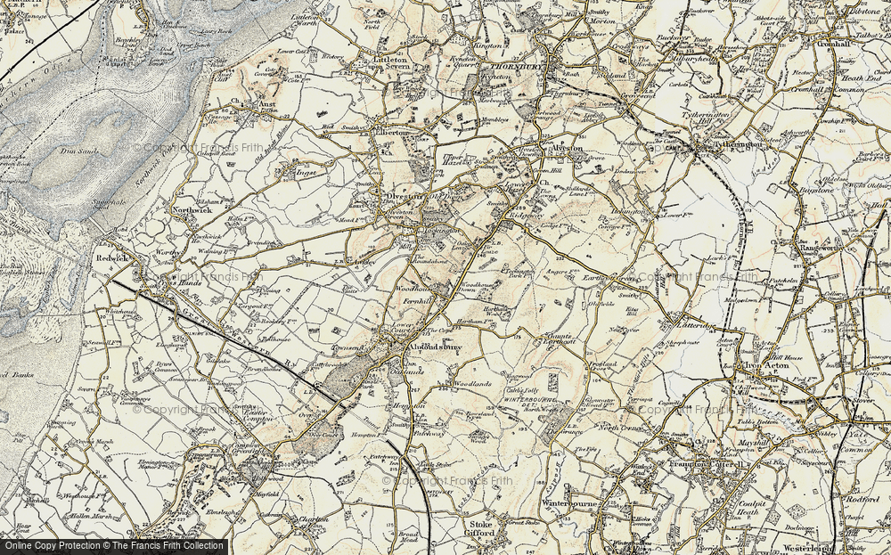 Old Map of Woodhouse Down, 1899 in 1899