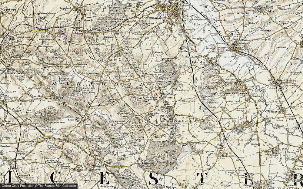 Old Map of Woodhouse Eaves, 1902-1903 in 1902-1903