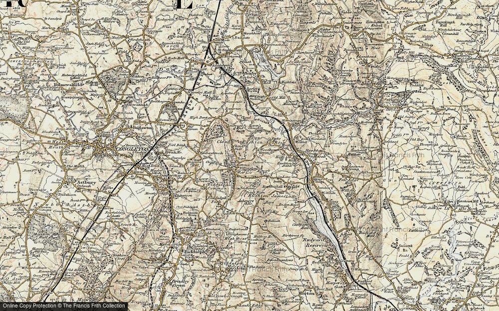 Old Map of Woodhouse Green, 1902-1903 in 1902-1903