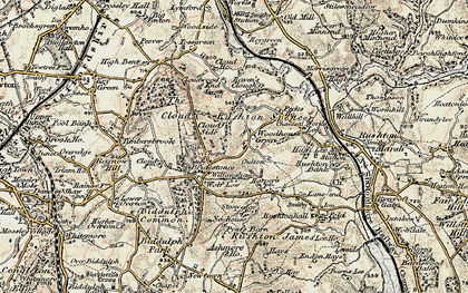 Old map of Woodhouse Green in 1902-1903