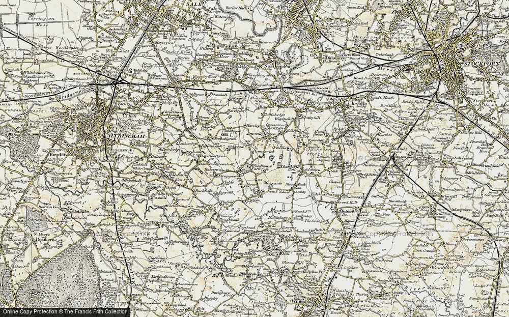 Old Map of Woodhouse Park, 1903 in 1903