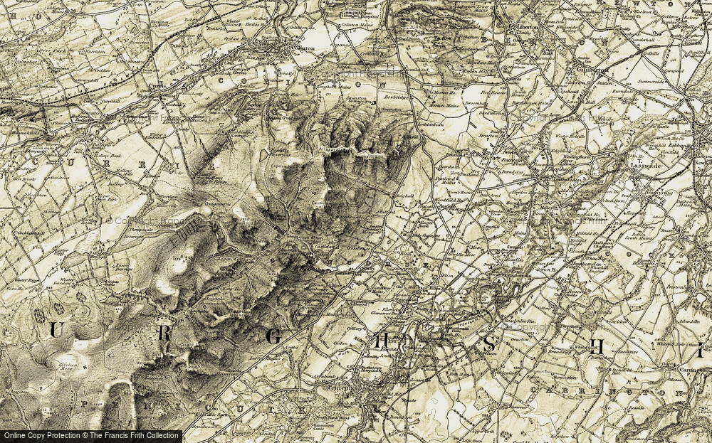 Old Map of Woodhouselee, 1903-1904 in 1903-1904
