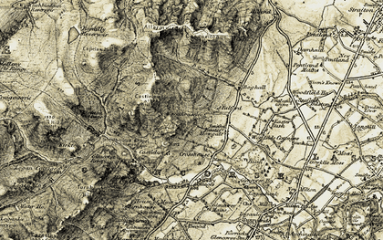 Old map of Woodhouselee in 1903-1904