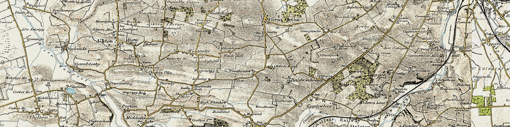 Old map of Woodhouses in 1901-1904