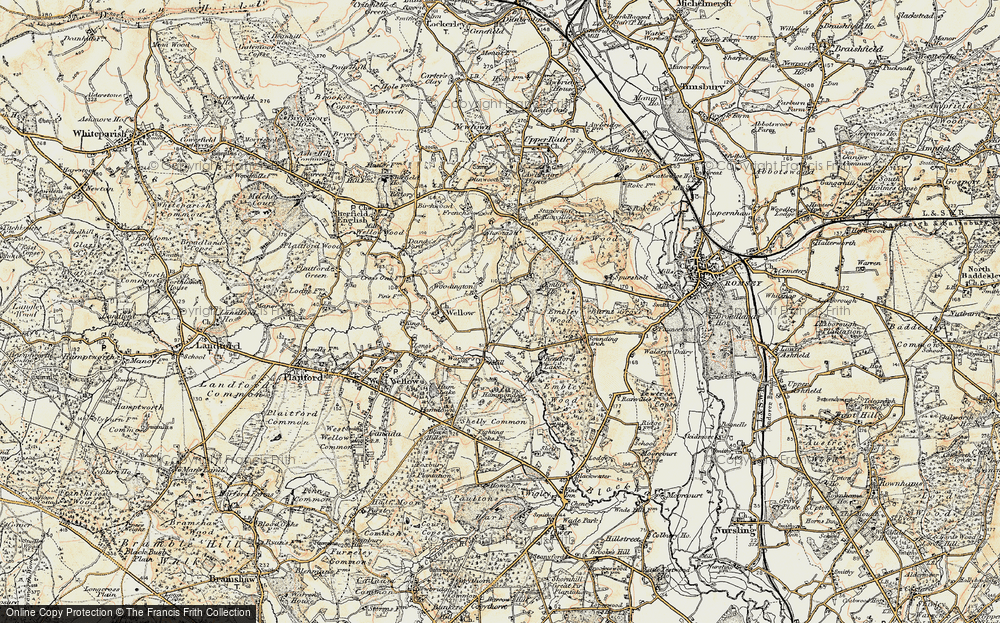 Old Map of Woodington, 1897-1909 in 1897-1909