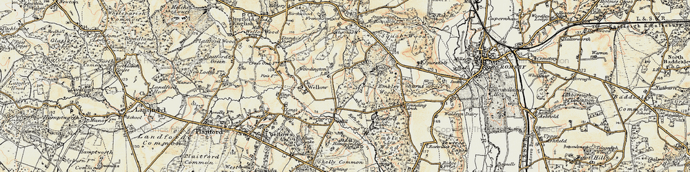 Old map of Woodington in 1897-1909