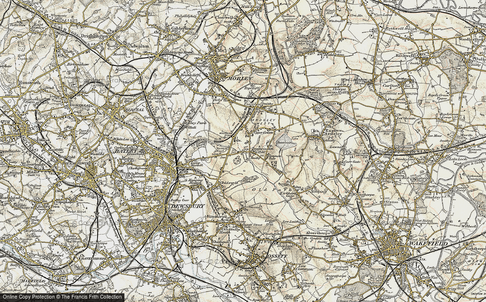 Old Map of Woodkirk, 1903 in 1903