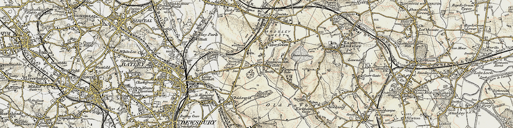 Old map of Woodkirk in 1903
