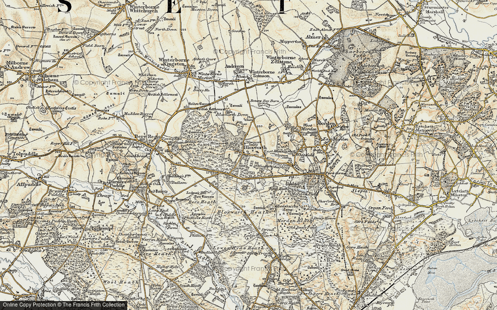 Old Map of Woodlake, 1897-1909 in 1897-1909