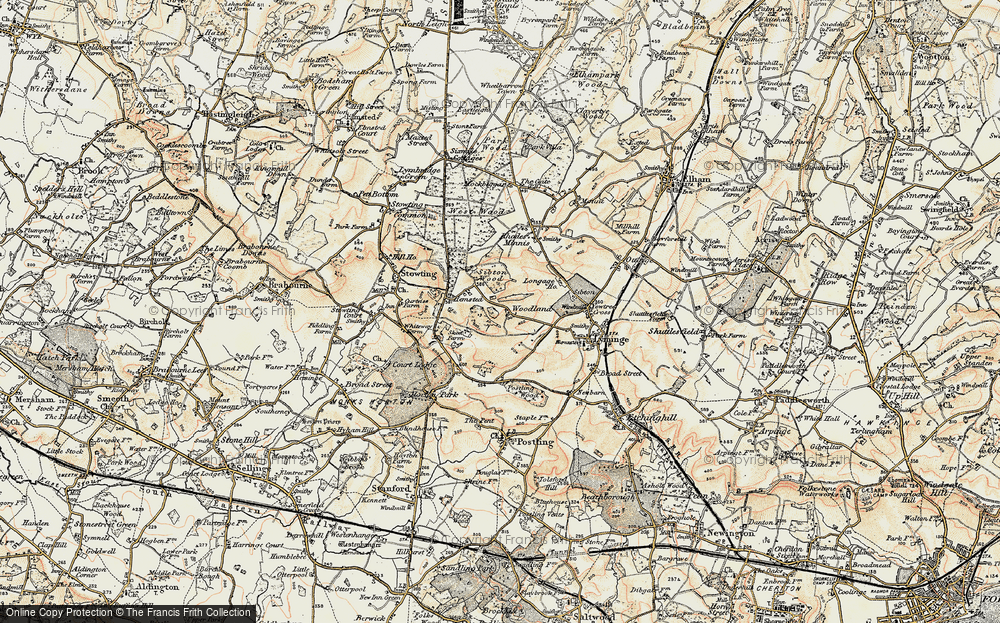 Old Map of Woodland, 1898-1899 in 1898-1899
