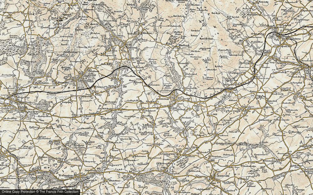 Old Map of Woodland, 1899-1900 in 1899-1900