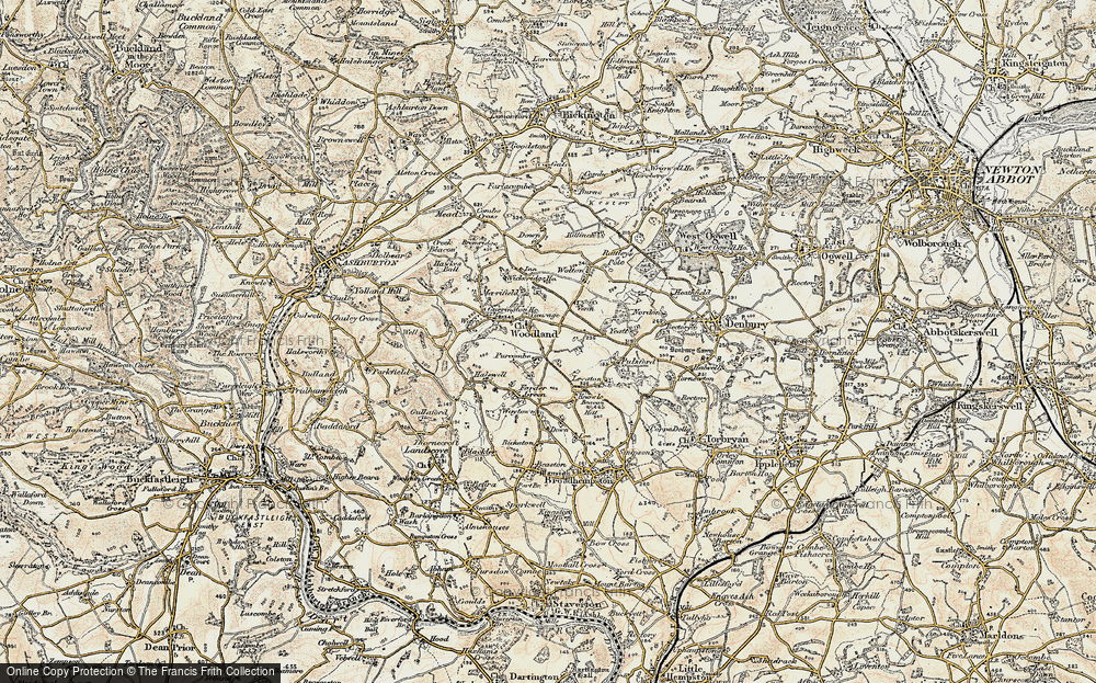 Old Map of Woodland, 1899 in 1899