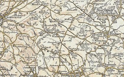 Old map of Wickeridge in 1899