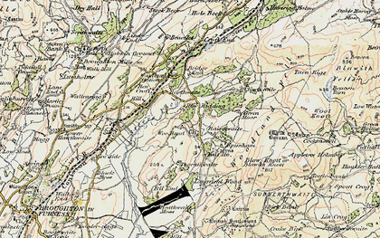 Old map of White Borran in 1903-1904
