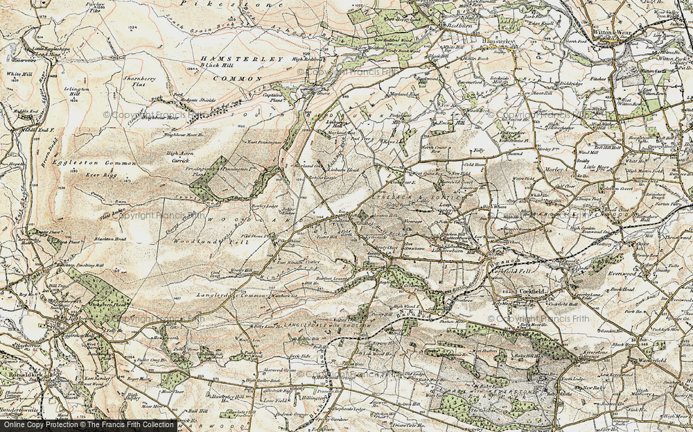 Old Maps of Woodland Francis Frith