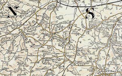 Old map of Tillerton in 1899-1900