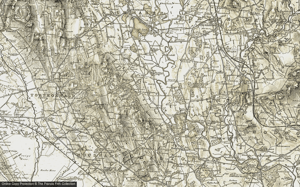 Old Map of Woodlands, 1901-1904 in 1901-1904