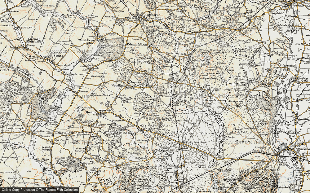 Old Map of Woodlands Common, 1897-1909 in 1897-1909