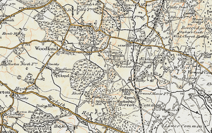 Old map of Woodlands Common in 1897-1909