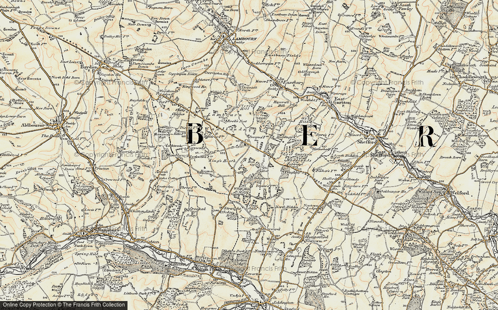 Old Map of Woodlands St Mary, 1897-1900 in 1897-1900