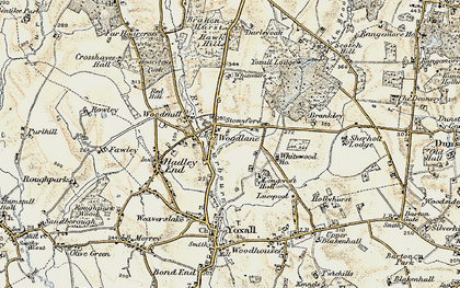 Old map of Woodlane in 1902