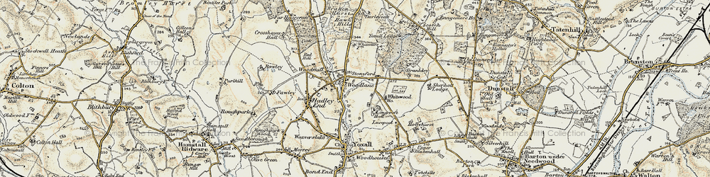 Old map of Whitewood in 1902