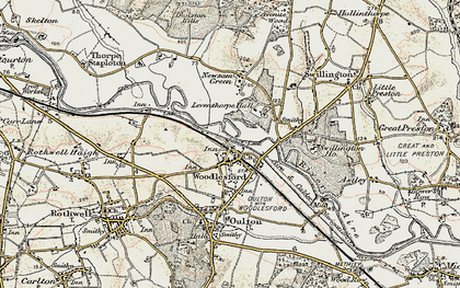 Old map of Woodlesford in 1903