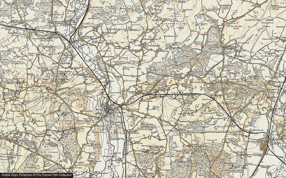 Old Map of Woodley, 1897-1909 in 1897-1909