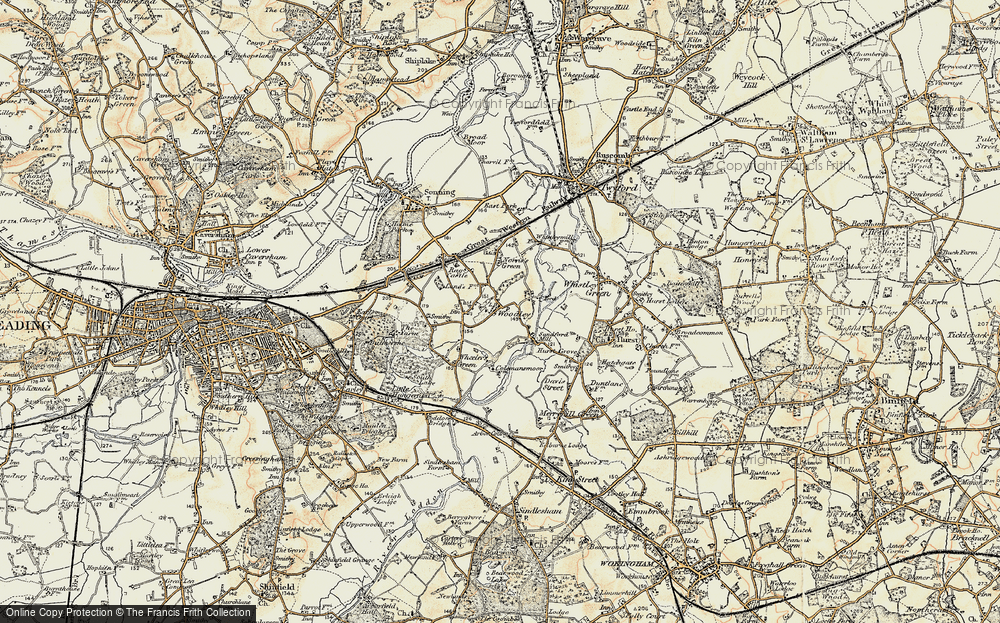 Old Map of Woodley Green, 1897-1909 in 1897-1909