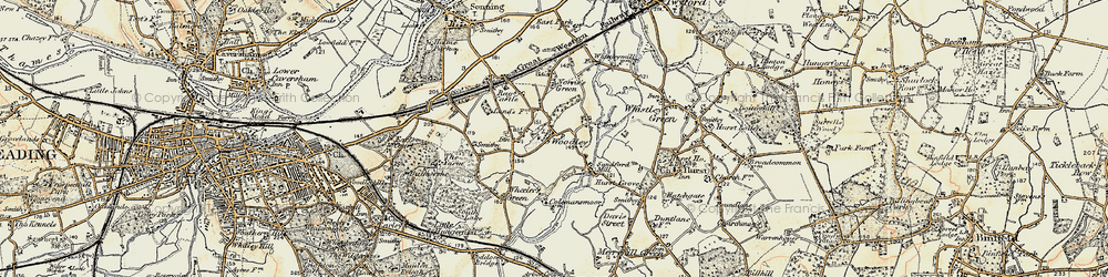 Old map of Woodley Green in 1897-1909