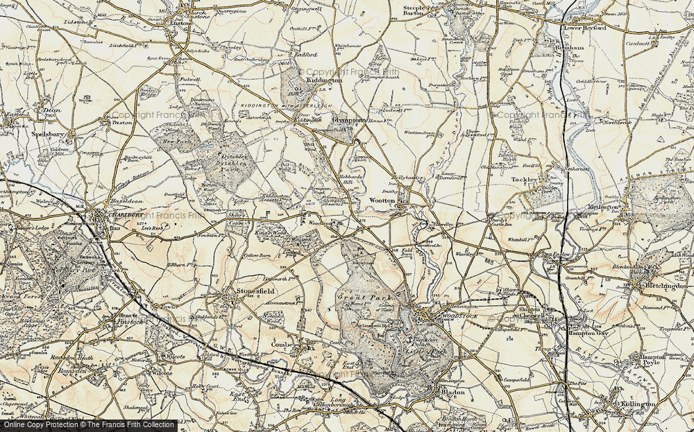 Old Map of Woodleys, 1898-1899 in 1898-1899