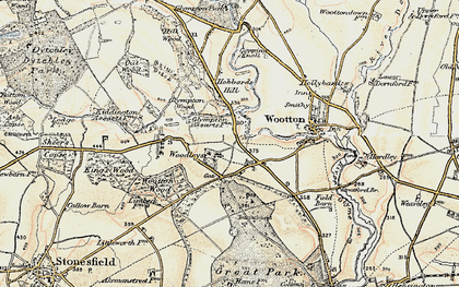 Old map of Wootton Wood in 1898-1899