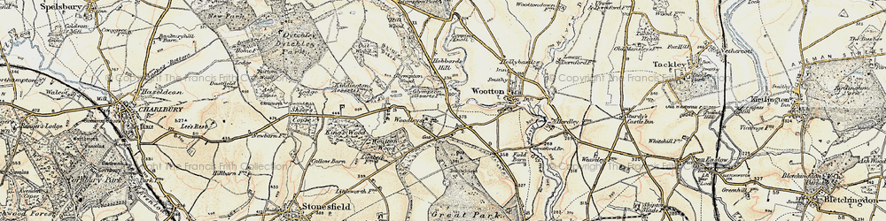 Old map of Woodleys in 1898-1899