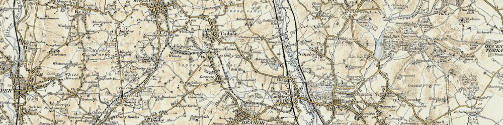 Old map of Woodlinkin in 1902