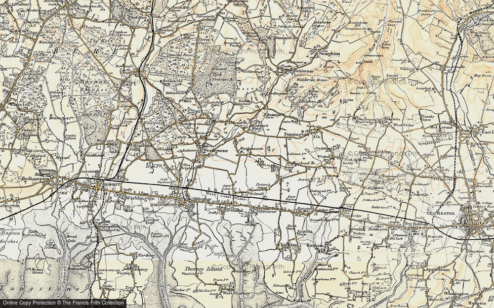 Old Map of Woodmancote, 1897-1899 in 1897-1899