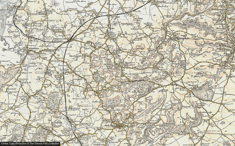 Old Map of Woodmancote, 1898-1900 in 1898-1900