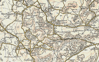 Old map of Woodmancote in 1898-1900