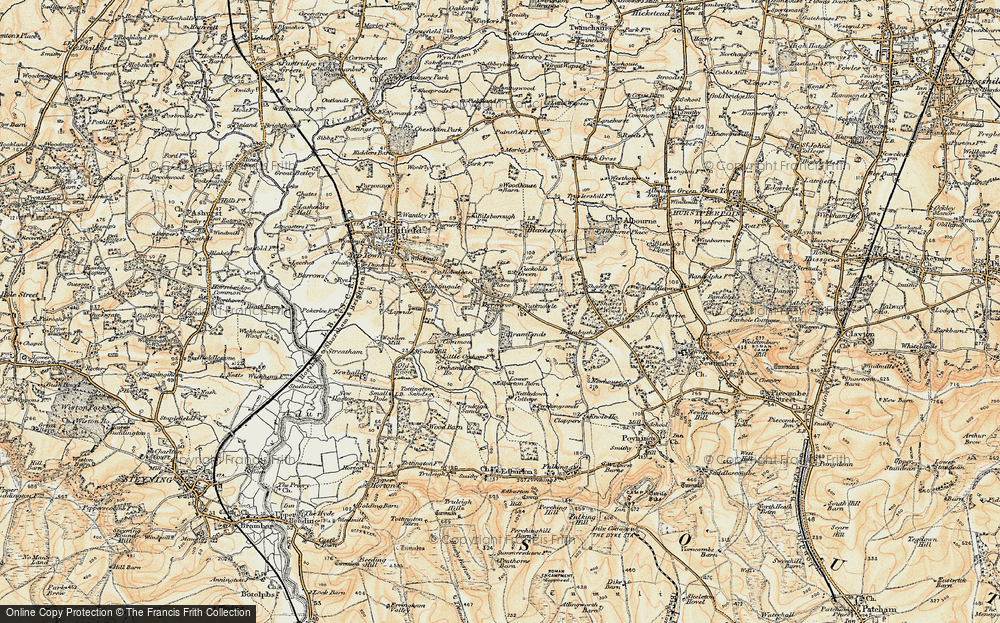 Old Map of Woodmancote, 1898 in 1898