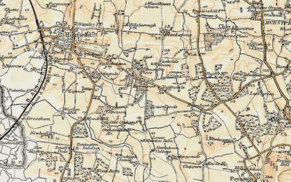 Old map of Woodmancote Place in 1898