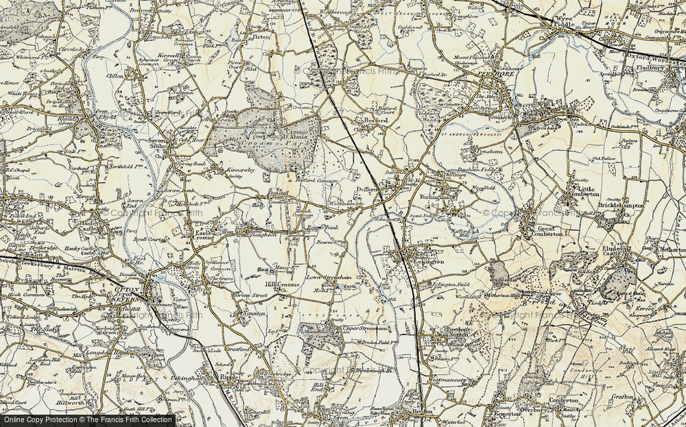 Old Map of Woodmancote, 1899-1901 in 1899-1901