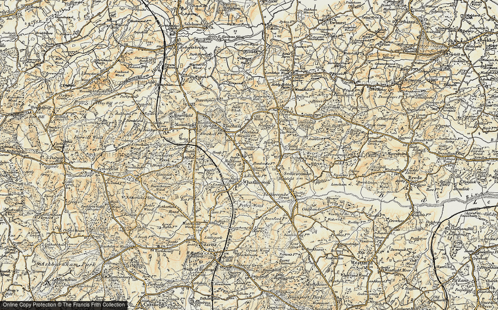 Old Map of Woodmans Green, 1898 in 1898