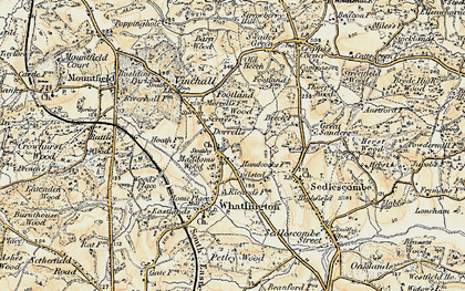 Old map of Woodmans Green in 1898