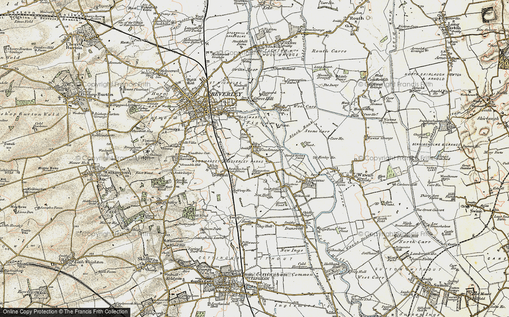 Old Map of Woodmansey, 1903-1908 in 1903-1908