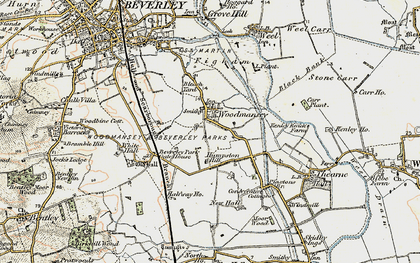 Old map of White Hall in 1903-1908