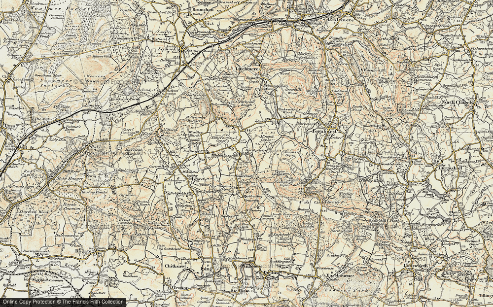Old Map of Woodmansgreen, 1897-1900 in 1897-1900