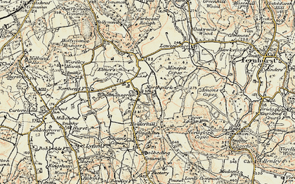 Old map of Woodmansgreen in 1897-1900