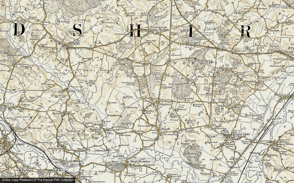 Old Map of Woodmill, 1902 in 1902