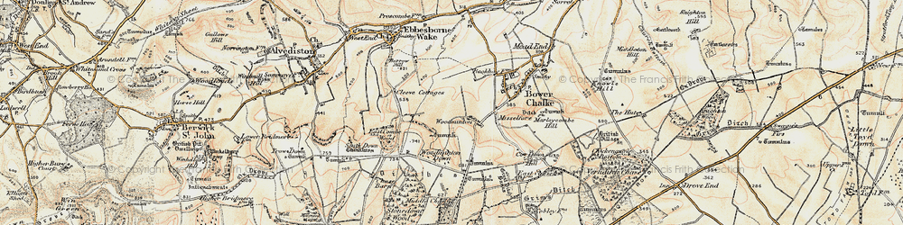 Old map of Woodminton in 1897-1909