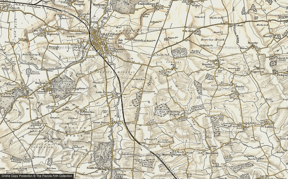 Old Map of Woodnook, 1902-1903 in 1902-1903